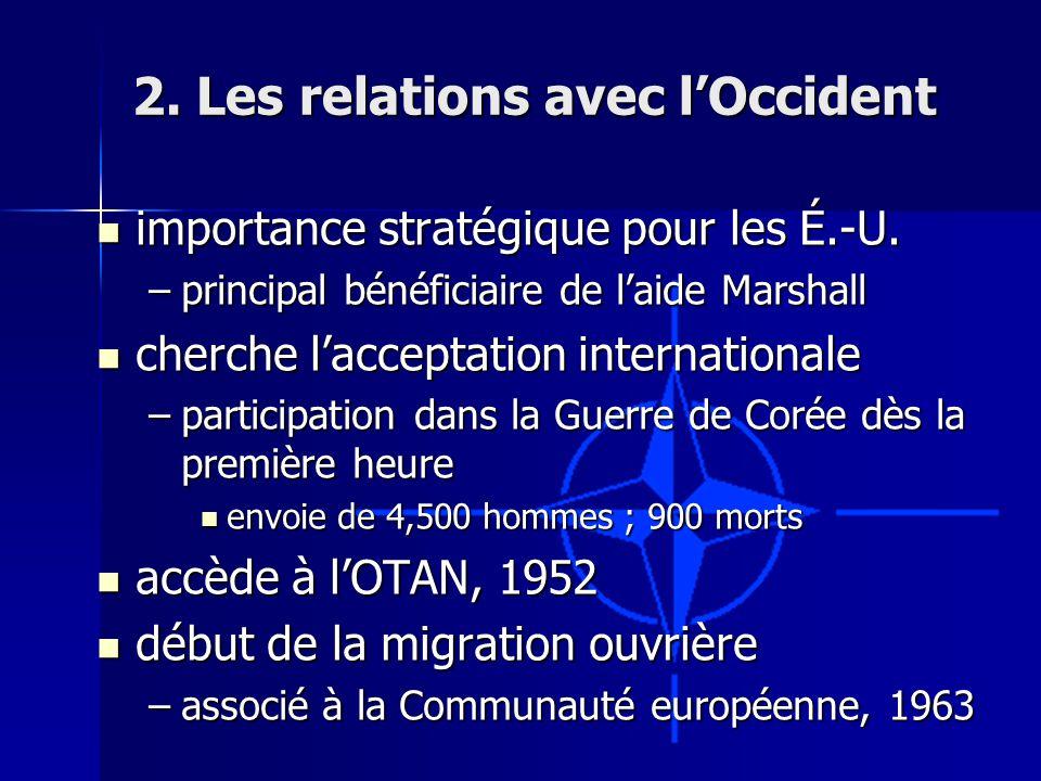 2. Les relations avec lOccident importance stratégique pour les É.-U.