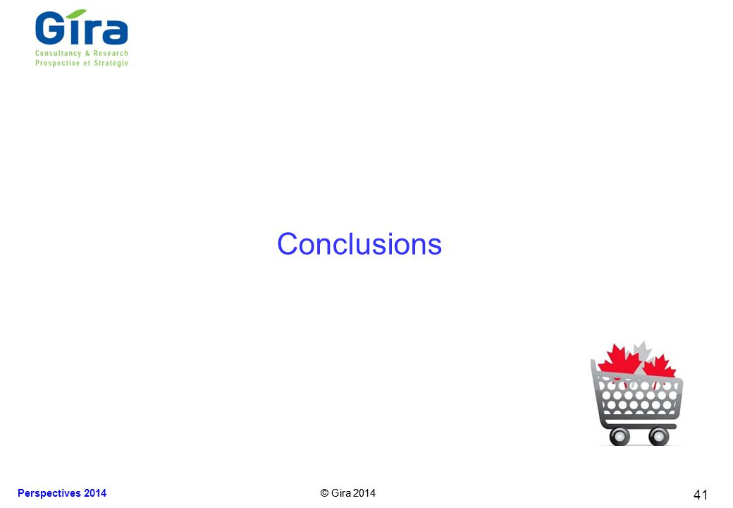 © Gira 2014 Perspectives 2014 © Gira 2014 Conclusions 41
