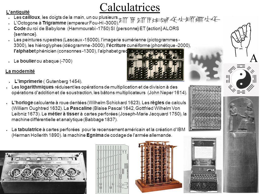 Ordinateurs Première génération: relais et tubes à vides L IBM 601 utilise des relais électromécaniques, des cartes perforées afin de réaliser une multiplication en une seconde, traitement « batch » (1935).