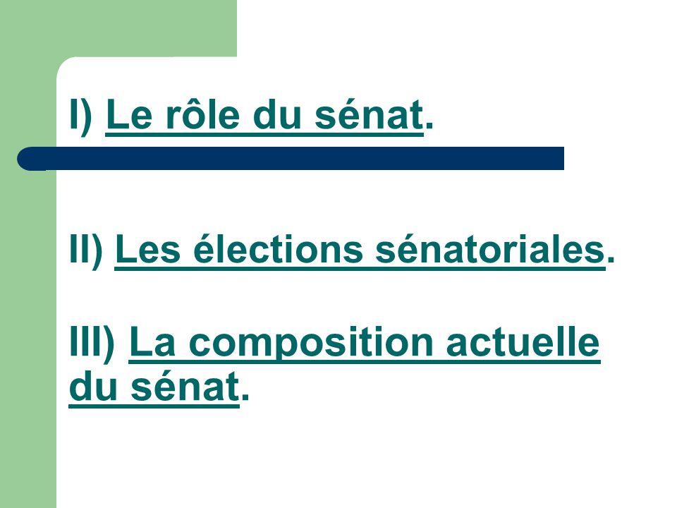 Introduction : Le sénat constitue la deuxième assemblée du Parlement.