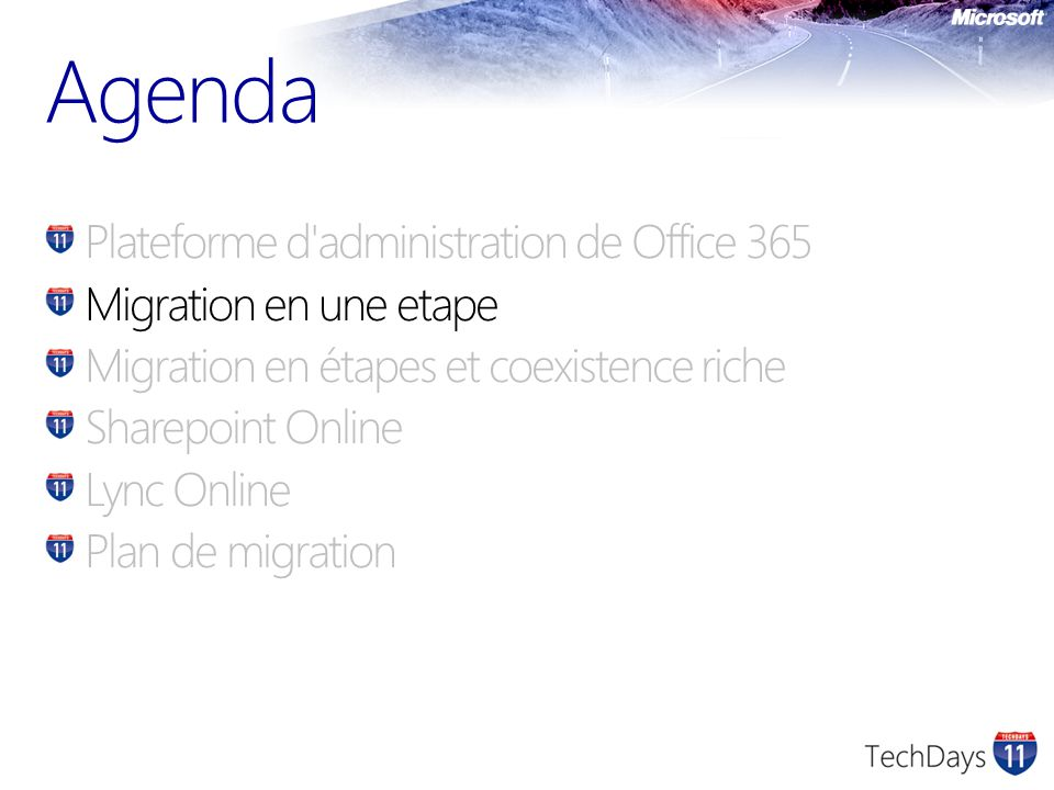 Migration vers Office 365 Chaque service a ses considérations Exchange Online Sharepoint Online Lync Online