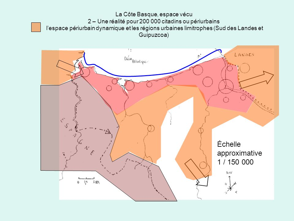 La Côte Basque, espace vécu 2 – Une réalité pour 200 000 citadins ou périurbains lespace périurbain dynamique et les régions urbaines limitrophes (Sud