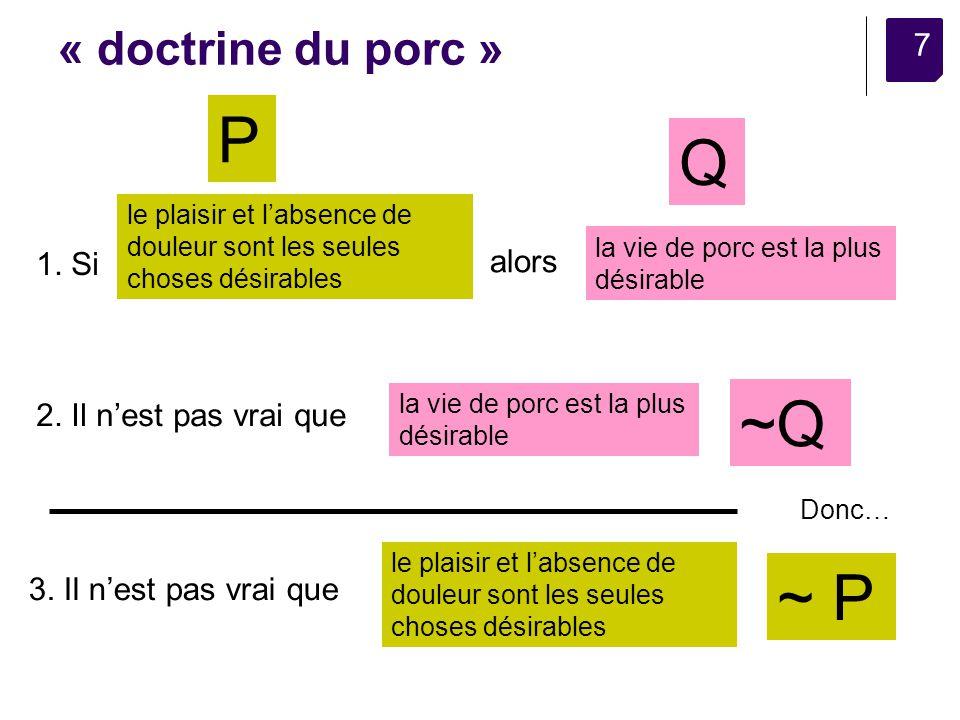 7 « doctrine du porc » le plaisir et labsence de douleur sont les seules choses désirables la vie de porc est la plus désirable 1.