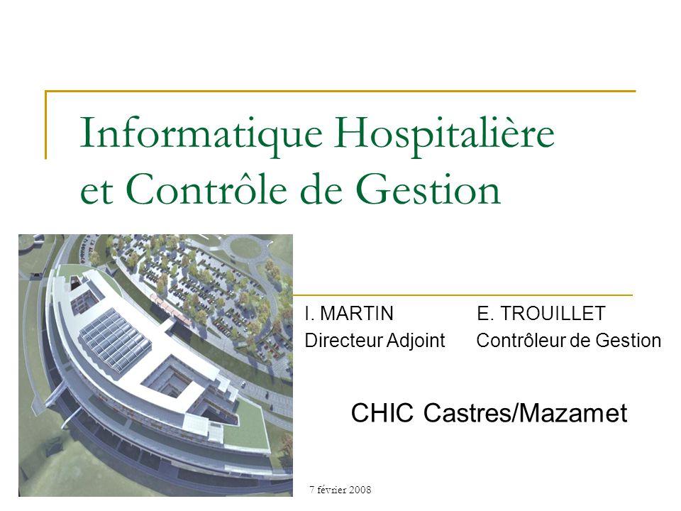 7 février 2008 Plan de lintervention 1.Historique de linformatique hospitalière 2.SIH : des attentes stratégiques 3.Plan Hôpital 2012 4.Place et missions du Contrôle de Gestion