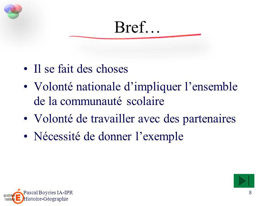 Pascal Boyries IA-IPR Histoire-Géographie 9