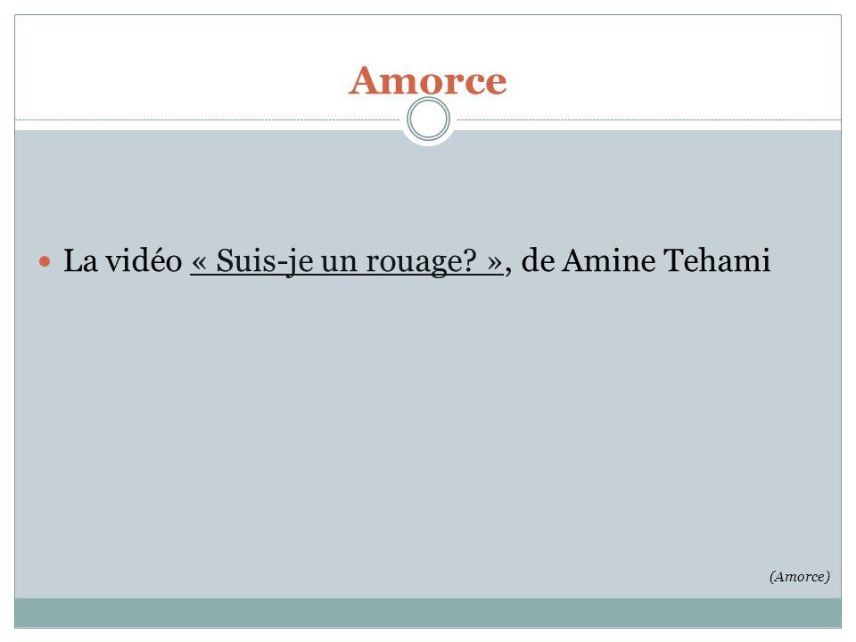 La vidéo « Suis-je un rouage? », de Amine Tehami« Suis-je un rouage? » (Amorce) Amorce