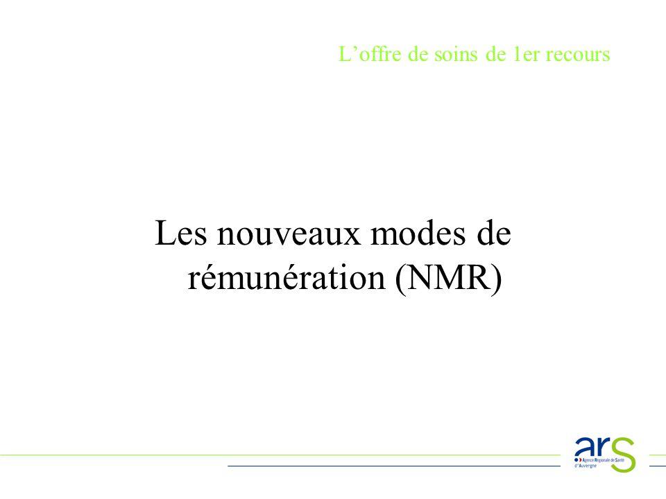 Loffre de soins de 1er recours Les nouveaux modes de rémunération (NMR)