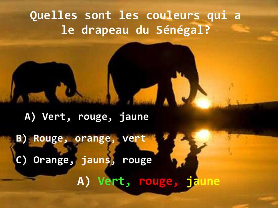 Quelles sont les couleurs qui a le drapeau du Sénégal.