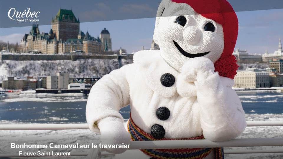 Bonhomme Carnaval sur le traversier Fleuve Saint-Laurent
