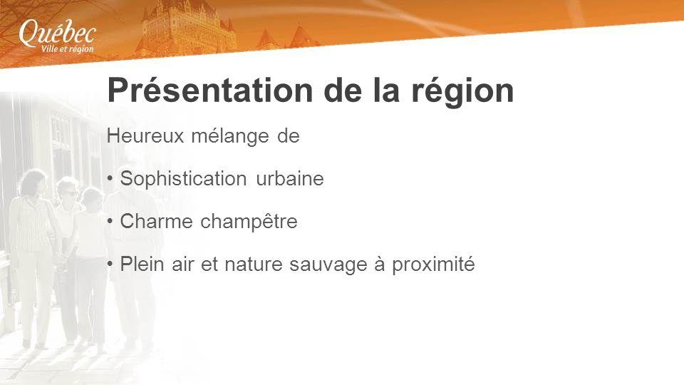 Heureux mélange de Sophistication urbaine Charme champêtre Plein air et nature sauvage à proximité Présentation de la région