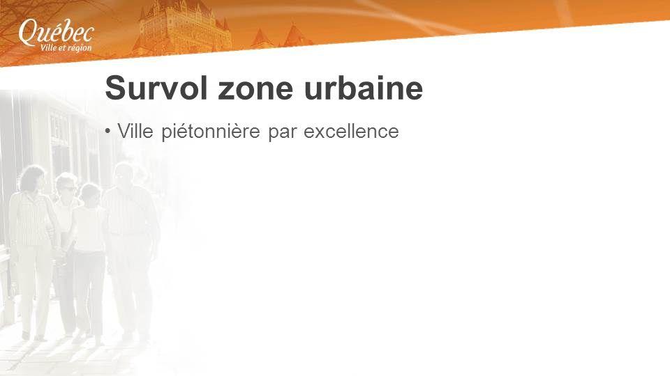 Ville piétonnière par excellence Survol zone urbaine