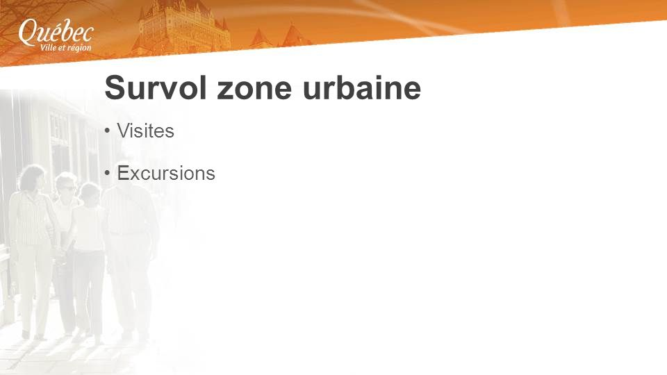 Visites Excursions Survol zone urbaine