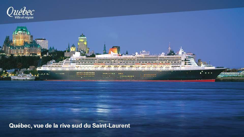Québec, vue de la rive sud du Saint-Laurent