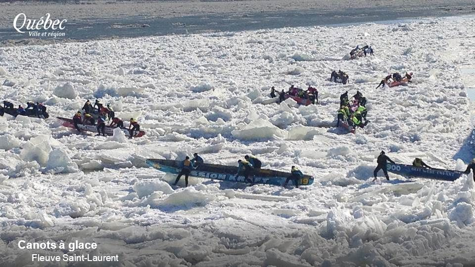Canots à glace Fleuve Saint-Laurent