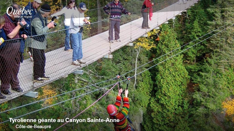 Tyrolienne géante au Canyon Sainte-Anne Côte-de-Beaupré