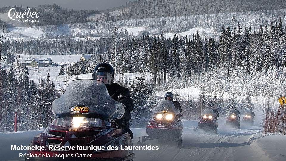 Motoneige, Réserve faunique des Laurentides Région de la Jacques-Cartier