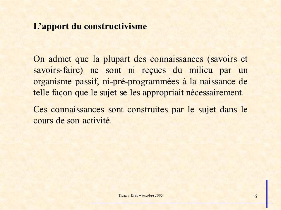 Thierry Dias – octobre 2005 37 Les principes du détour Faire un détour prend du temps.