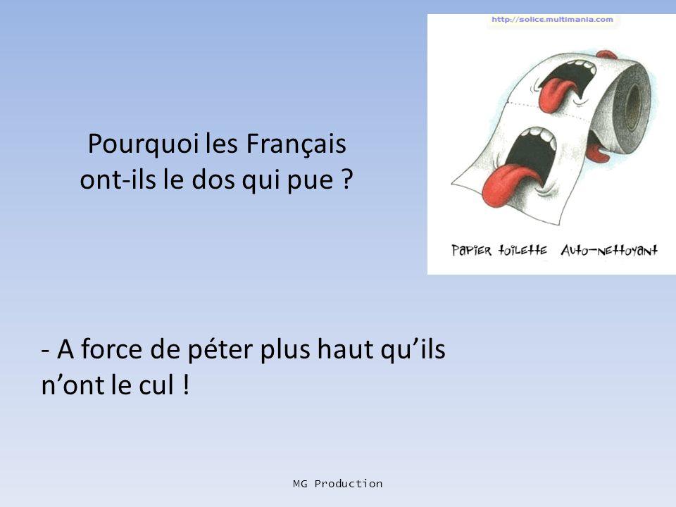 MG Production Comment fait un Français pour se suicider ? -Il se tire une balle à 15 centimètres au-dessus de la tête en plein dans son complexe de su