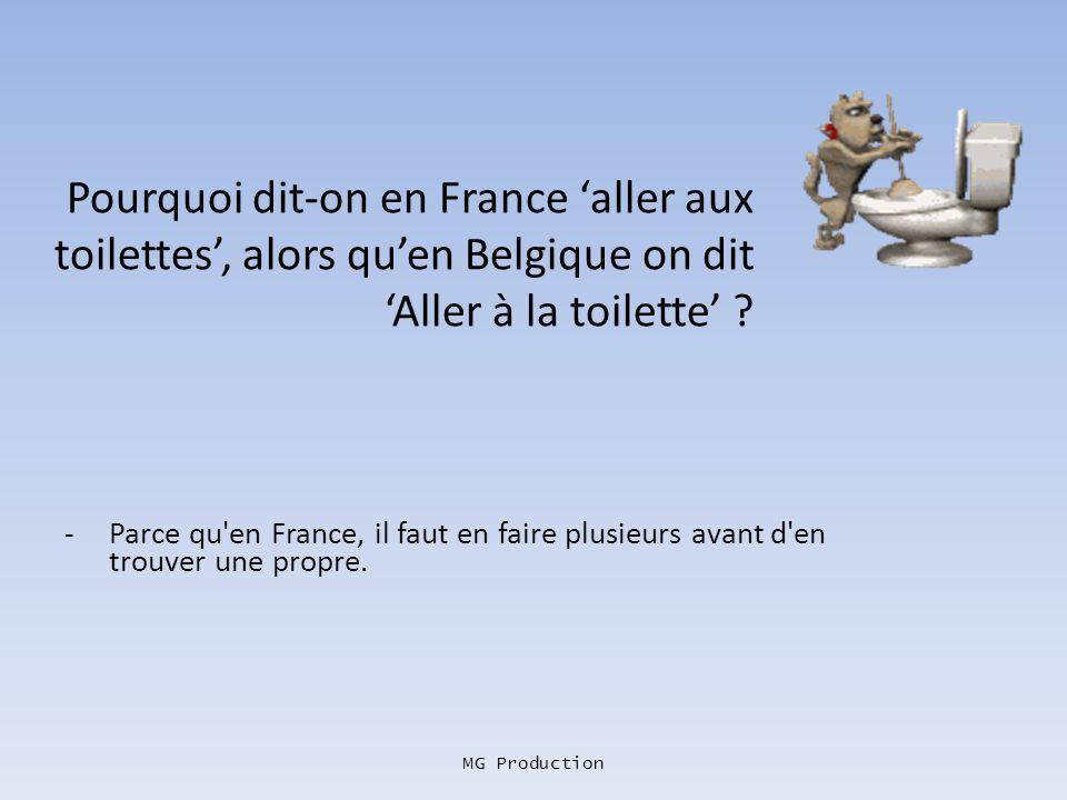 MG Production Pourquoi les Français ont-ils le dos qui pue ? - A force de péter plus haut quils nont le cul !