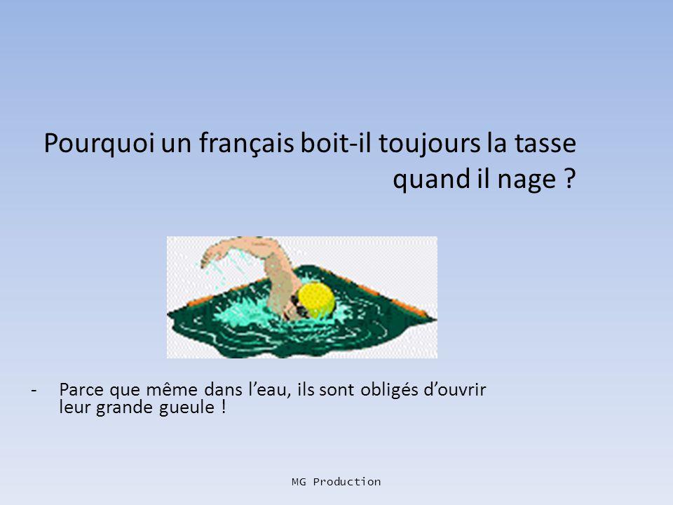 MG Production Pourquoi dit-on en France aller aux toilettes, alors quen Belgique on dit Aller à la toilette ? -Parce qu'en France, il faut en faire pl
