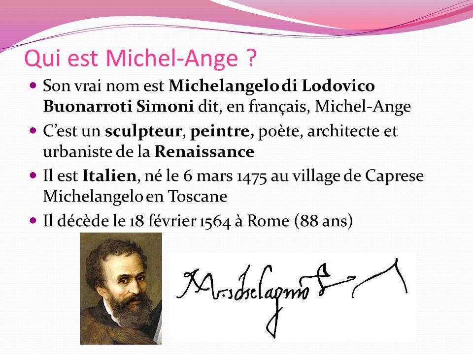 Qui est Michel-Ange .
