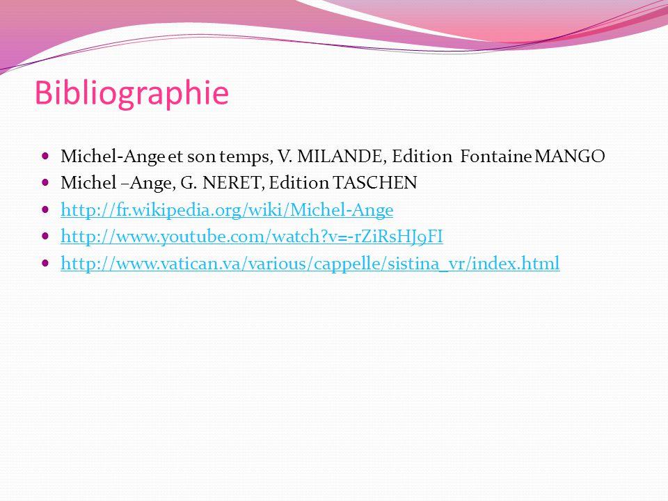Bibliographie Michel-Ange et son temps, V.MILANDE, Edition Fontaine MANGO Michel –Ange, G.