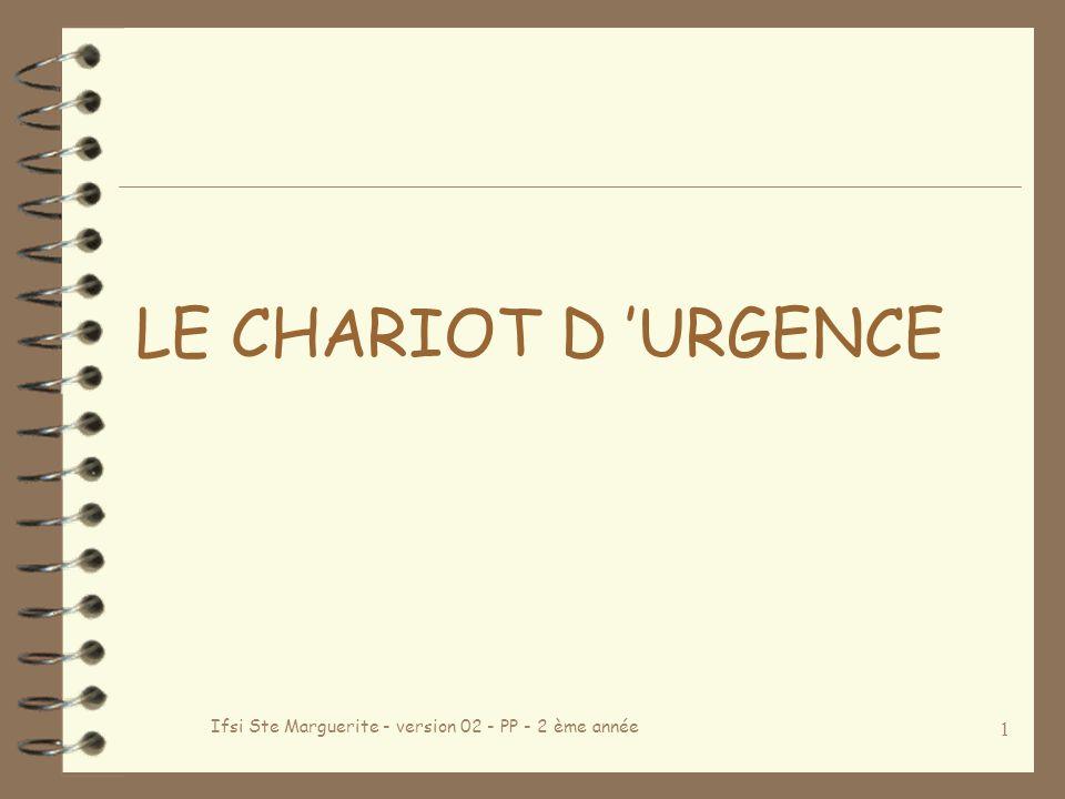 Ifsi Ste Marguerite - version 02 - PP - 2 ème année 1 LE CHARIOT D URGENCE
