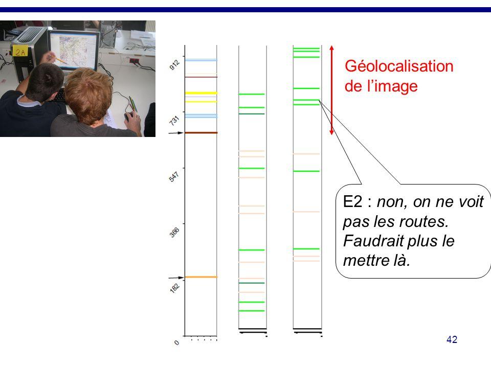 42 Géolocalisation de limage E2 : non, on ne voit pas les routes. Faudrait plus le mettre là.
