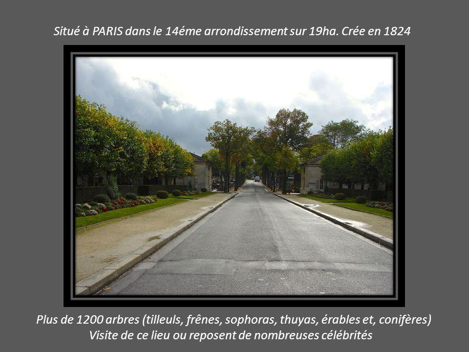 Situé à PARIS dans le 14éme arrondissement sur 19ha.
