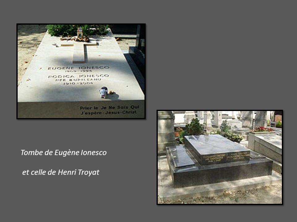 Tombe de Eugène Ionesco et celle de Henri Troyat