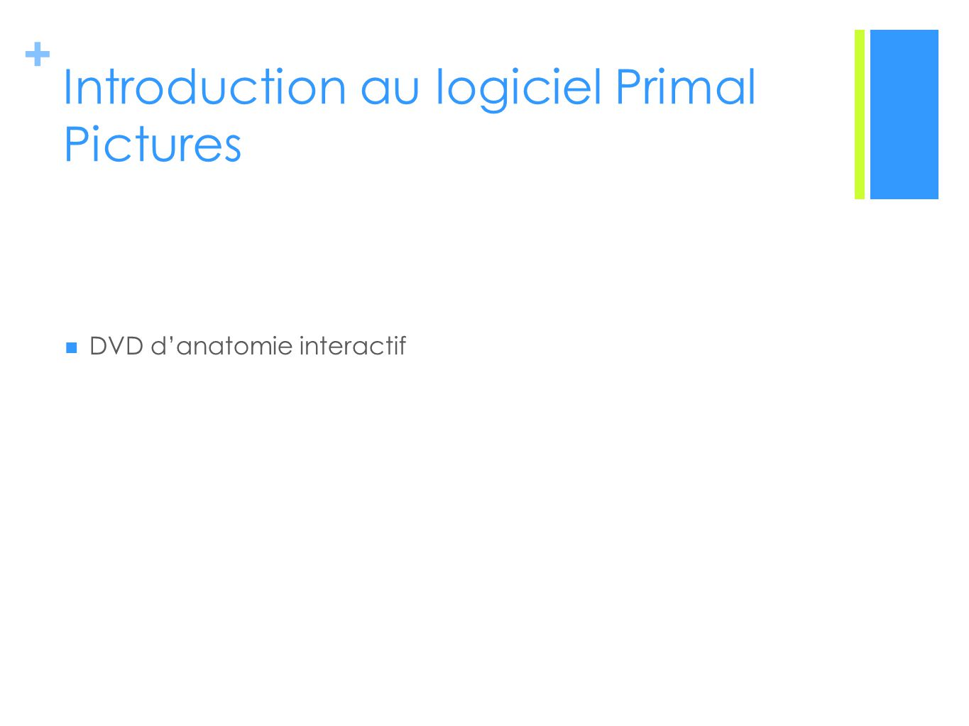 + Introduction au logiciel Primal Pictures DVD danatomie interactif