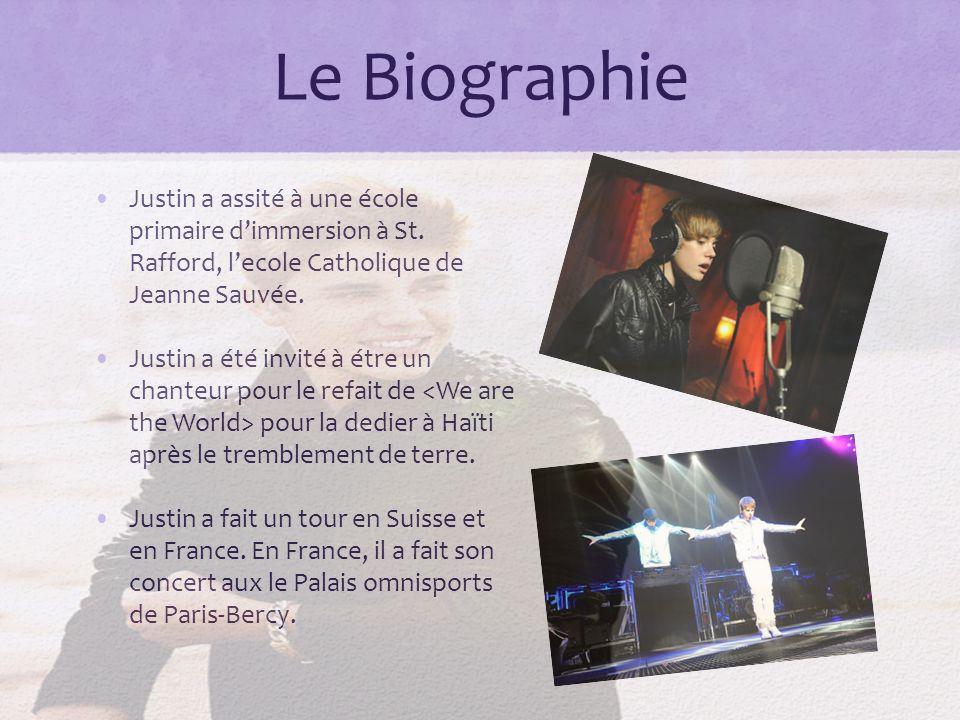 Le Biographie Justin a assité à une école primaire dimmersion à St.
