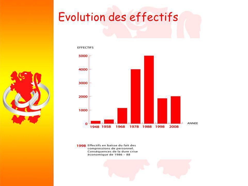 Evolution des effectifs Quel bilan Quel bilan