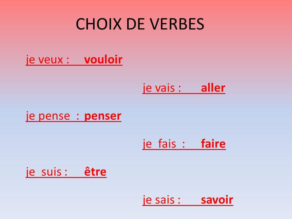 CHOIX DE VERBES ORTHOPHONIE Cécile PEGUIN
