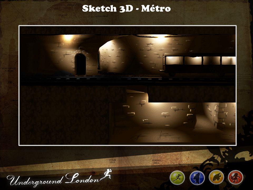 Sketch 3D - Métro