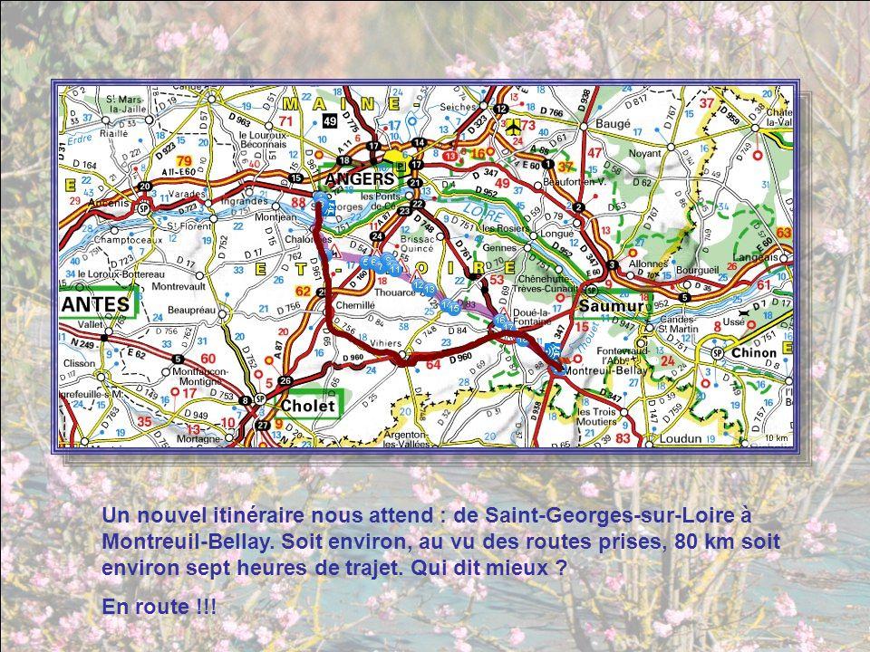 Un nouvel itinéraire nous attend : de Saint-Georges-sur-Loire à Montreuil-Bellay.