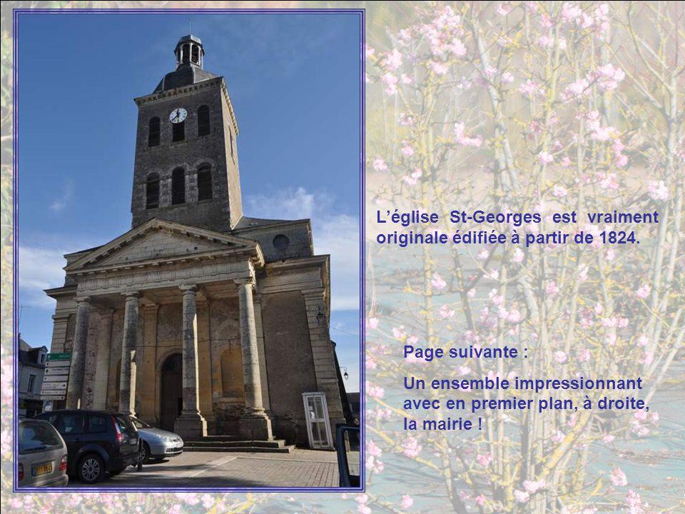 Léglise St-Georges est vraiment originale édifiée à partir de 1824.