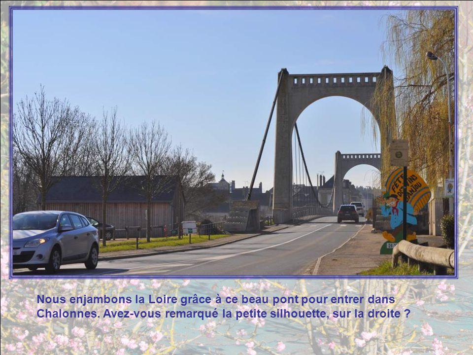 Nous enjambons la Loire grâce à ce beau pont pour entrer dans Chalonnes.