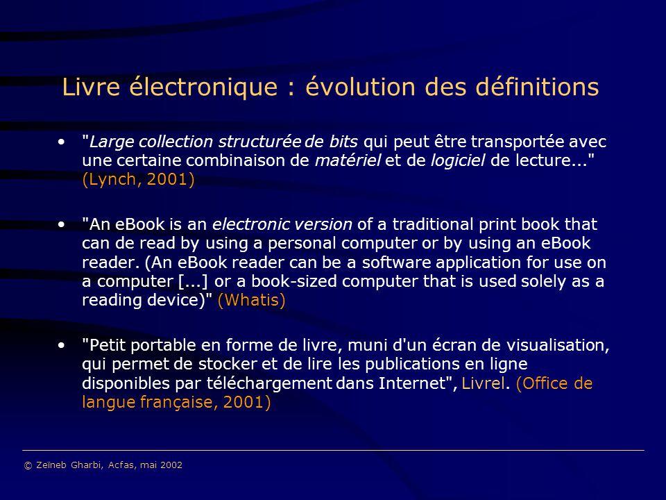 Livre électronique : évolution des définitions