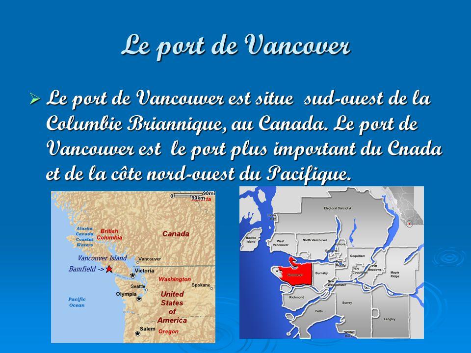 Le port de Quebec Le port de quebec est situe en Canada.