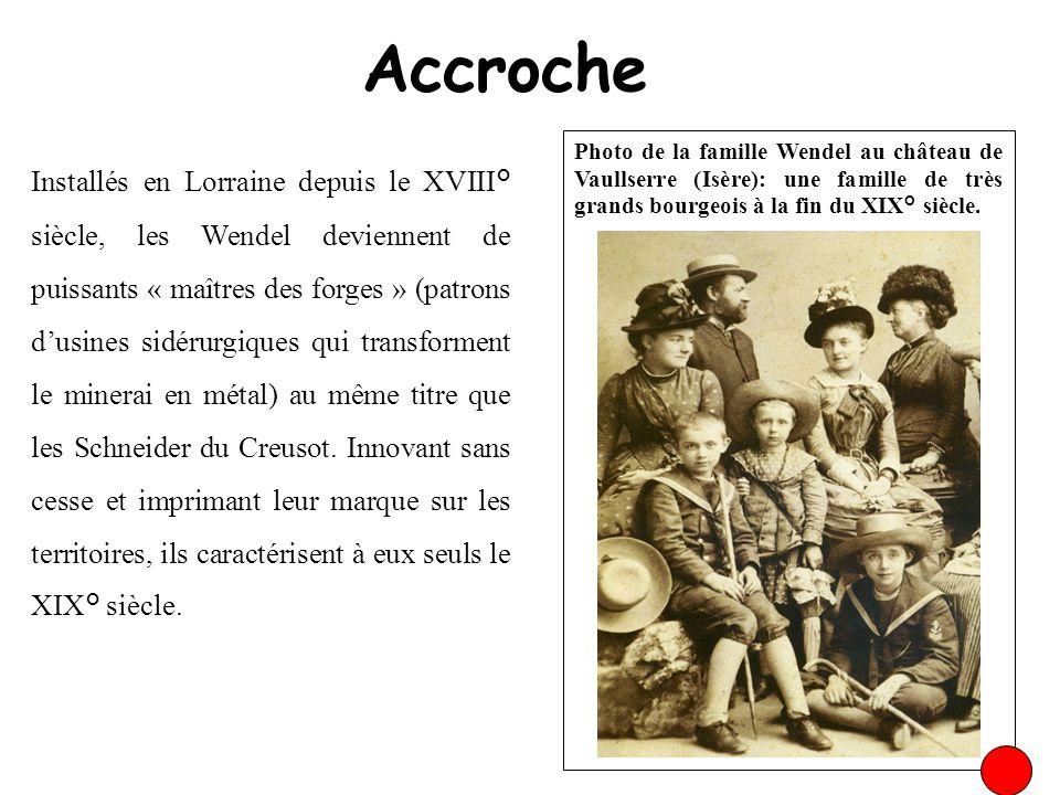 Accroche Photo de la famille Wendel au château de Vaullserre (Isère): une famille de très grands bourgeois à la fin du XIX° siècle. Installés en Lorra
