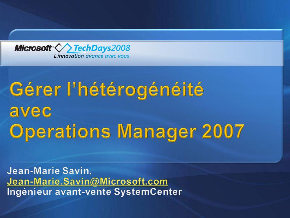 Une gamme complète de produits SCOM : Quest Management eXtensions for SCOM, Quest Management Pack for Oracle, Quest Management Pack for.Net, … Basés sur les standards Microsoft, Permettent davoir un outil unique pour superviser intégralement le système dinformation