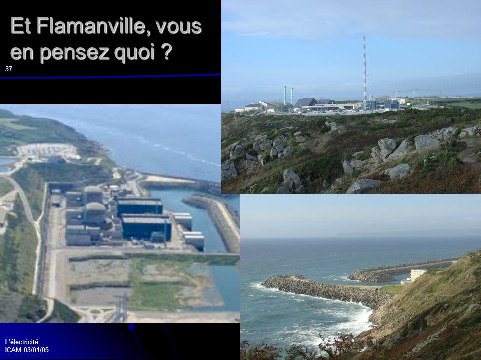 Lélectricité ICAM 03/01/05 37 Et Flamanville, vous en pensez quoi ?