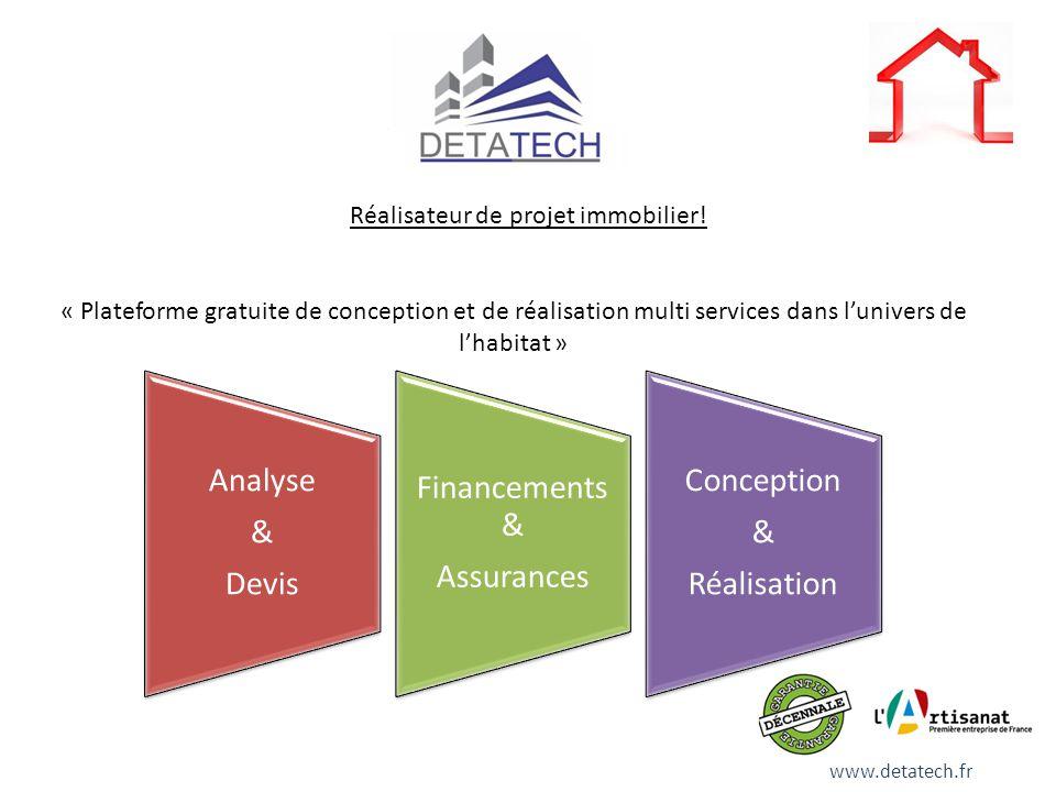 Réalisateur de projet immobilier! « Plateforme gratuite de conception et de réalisation multi services dans lunivers de lhabitat » Analyse & Devis Fin