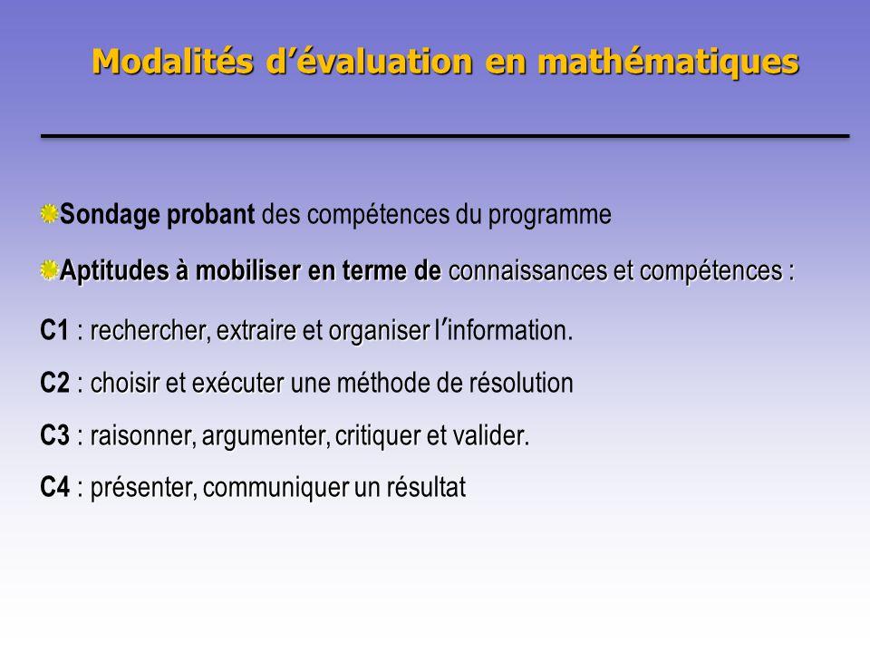 Sondage probant des compétences du programme Aptitudes à mobiliser en terme de connaissances et compétences : rechercherextraireorganiser C1 : rechercher, extraire et organiser linformation.