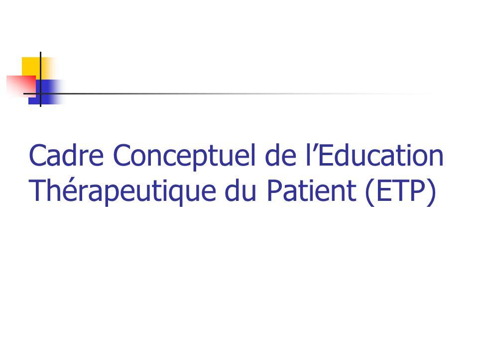 Cadre Conceptuel de lEducation Thérapeutique du Patient (ETP)