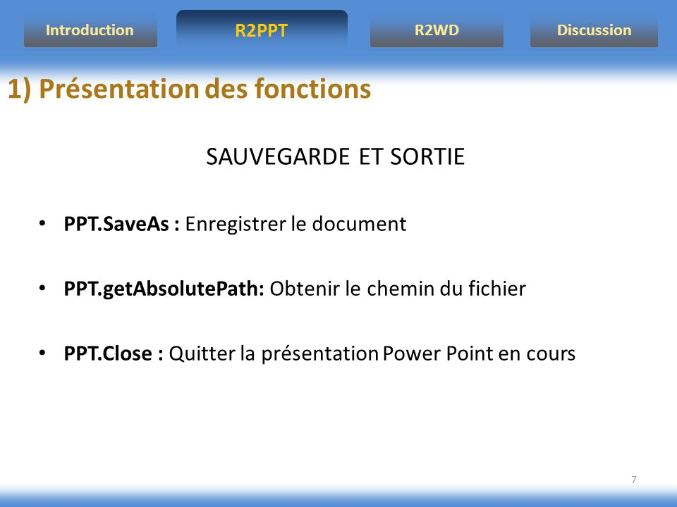 R2PPT IntroductionR2WDDiscussion 8 2) Application