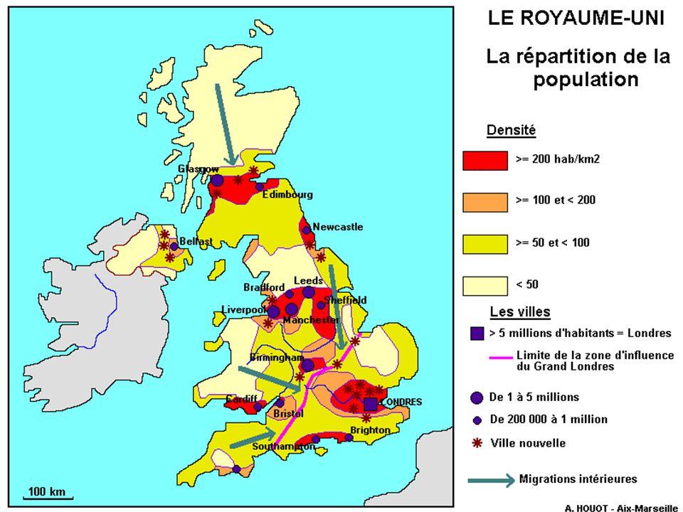 Le Royaume-Uni comptait 60.209.500 habitants au premier juillet 2005.