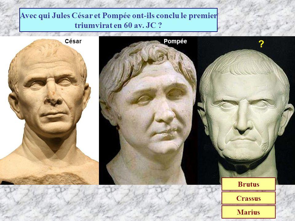 Qui a conduit la révolte de esclaves et des gladiateurs ? Brutus Marius Spartacus (Troisième guerre servile de -73 à -71)