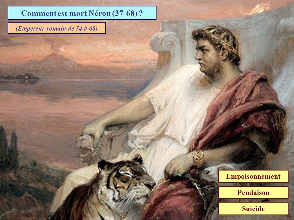 Comment est mort Caligula ? AssassinéEmpoisonnéPendu (Troisième empereur romain de 37 à 41)